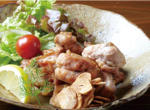 炭火焼き一例(梅鶏炙り焼き)
